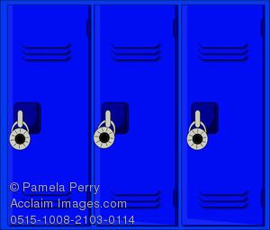 Locker clipart. Clip art image of