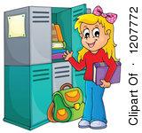 Cartoon lockers . Locker clipart