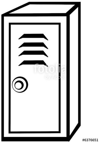 Black and white stock. Locker clipart