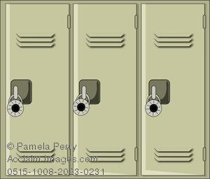 Locker clipart. Sports lockers