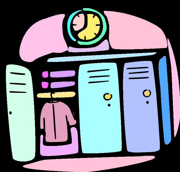 Locker clipart student locker. Lockers store books vector