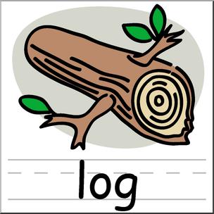 Clip art basic words. Log clipart