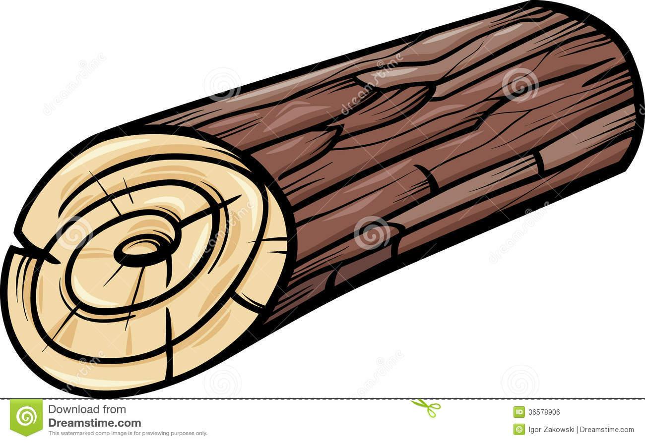 Wood wooden or panda. Log clipart