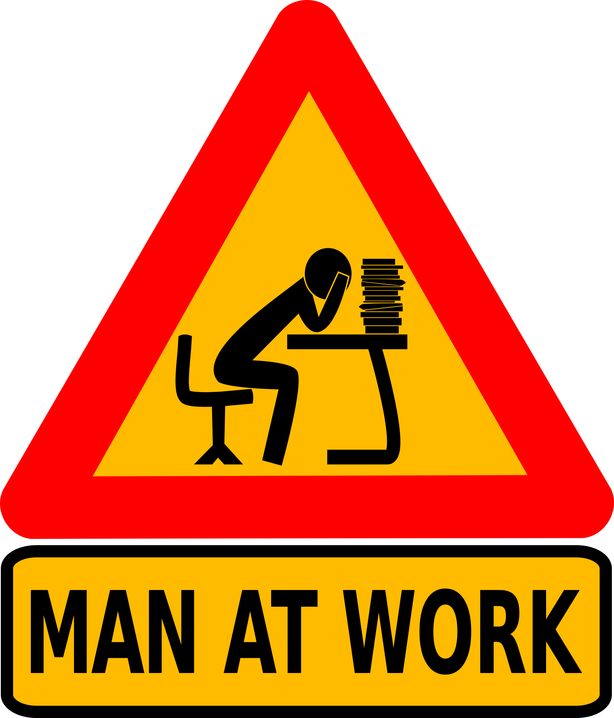 Log clipart intellectual. Man at work big