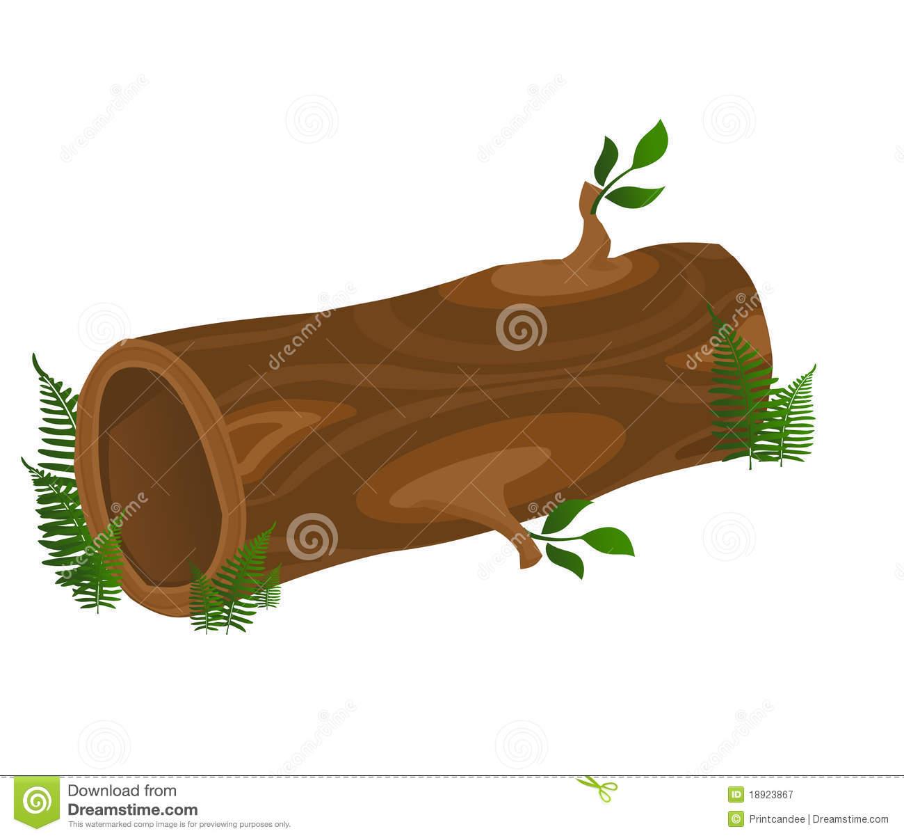 Logs clipart hollow log. Clip art free panda