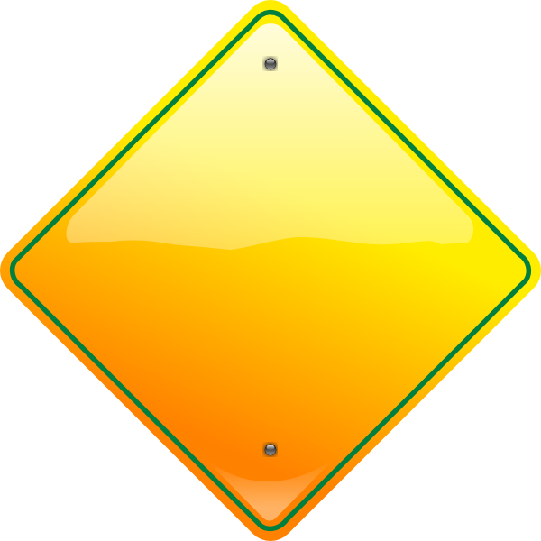 Stop Sign Yellow Clip Art at Clker