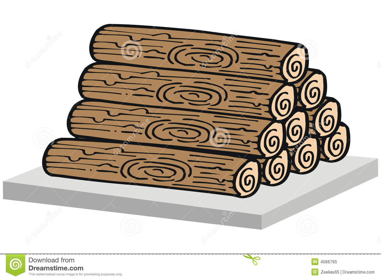 Logs clipart wood.  clip art clipartlook
