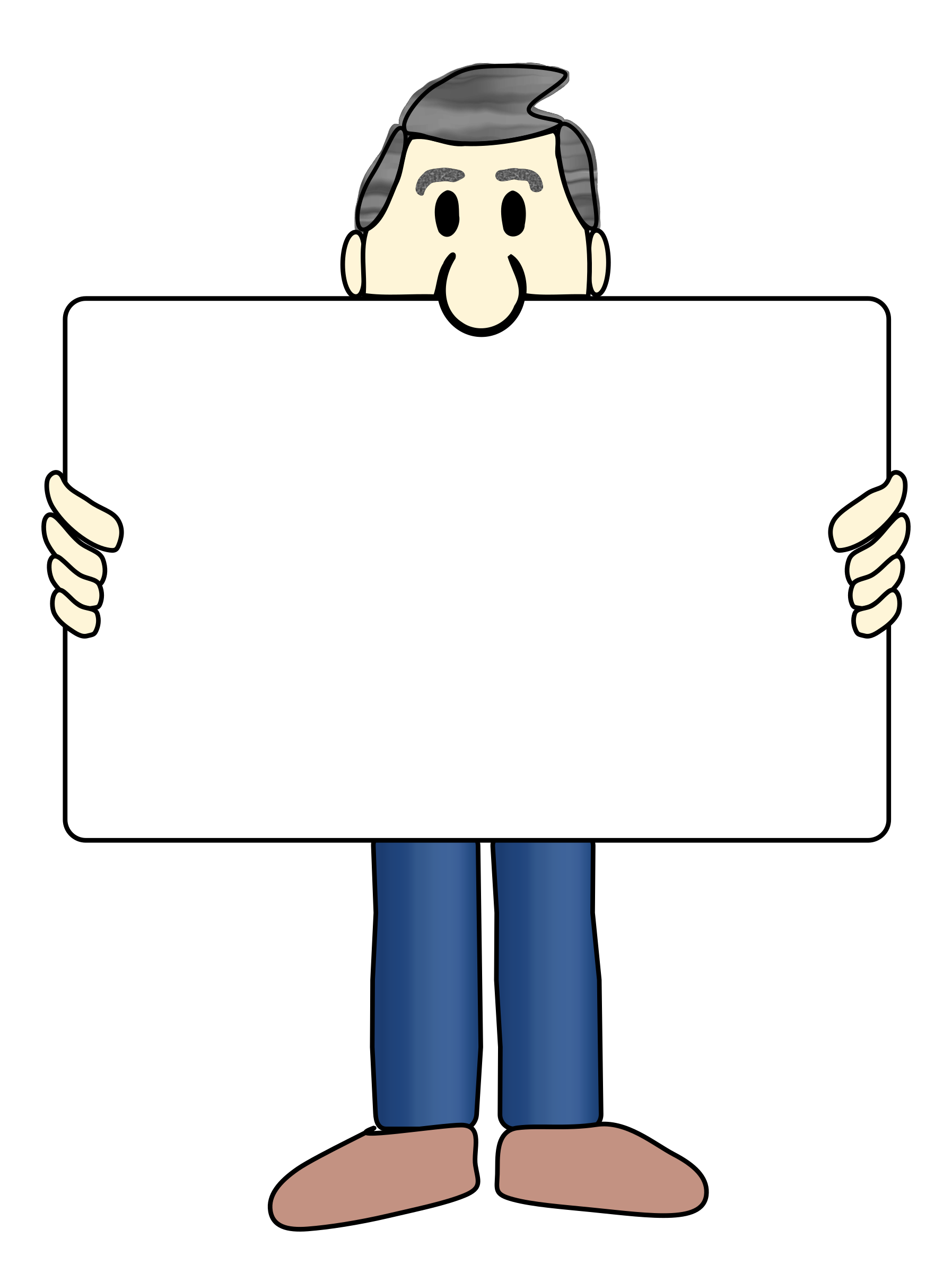 Man clipart presentation. And sign big image
