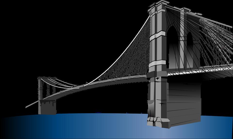 Brooklyn png hd transparent. Logo clipart bridge