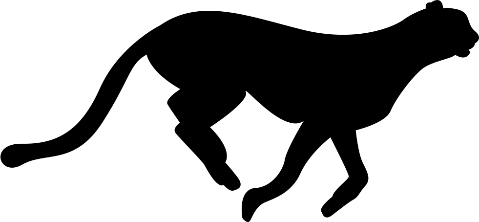 Cheetah silhouette at getdrawings. Panther clipart track