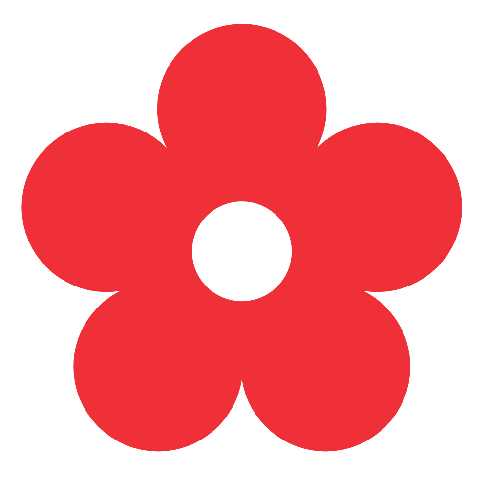 Flowers red free on. Logo clipart flower