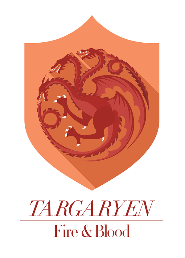 game of thrones house sigils png