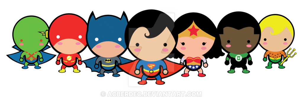 Cute by acberdec on. Superheroes clipart justice league