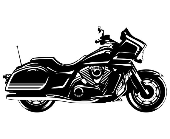 Indian motorbike silhouette svg. Motorcycle clipart logo