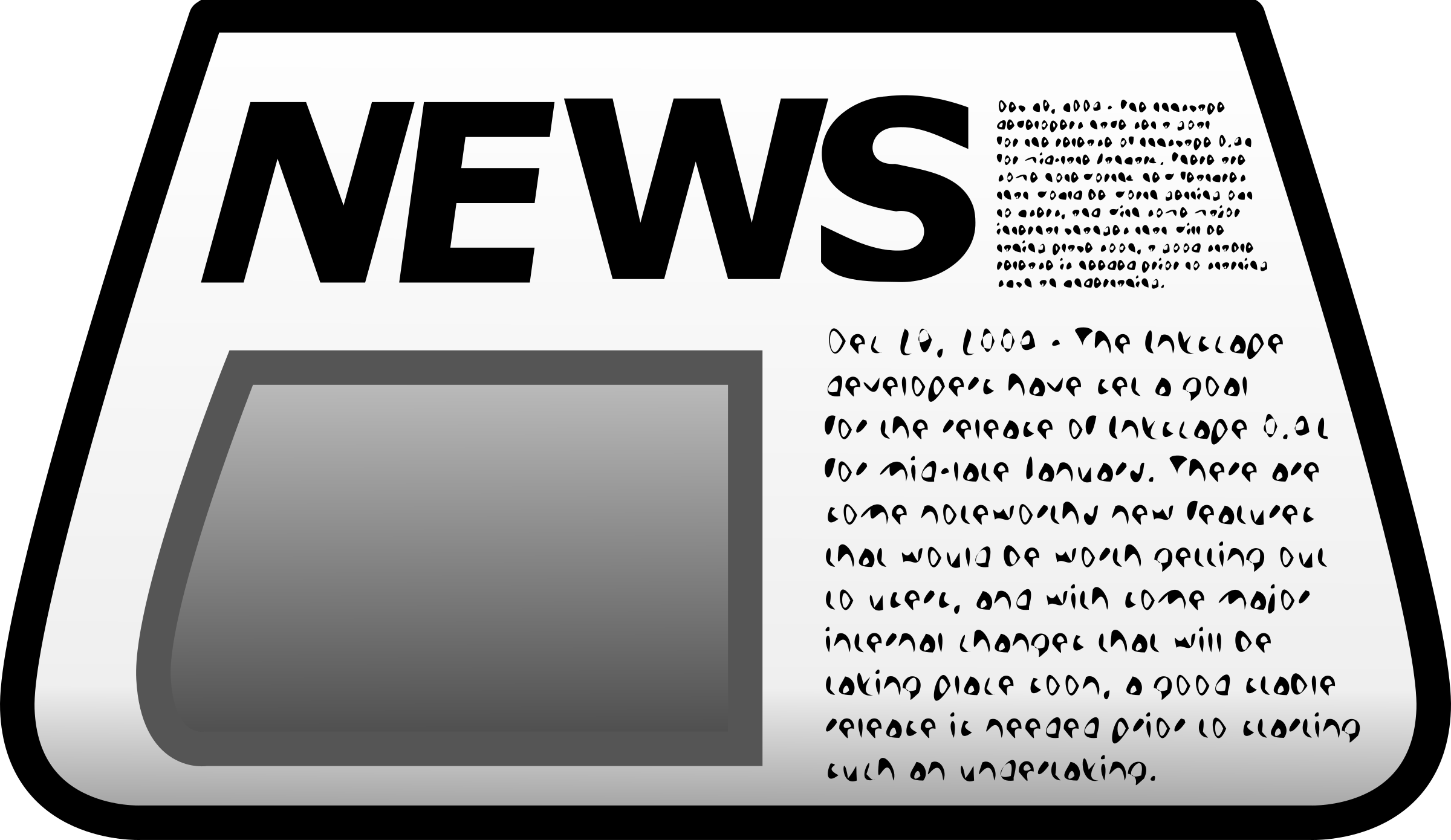 Icon big image png. Newspaper clipart newspapaer