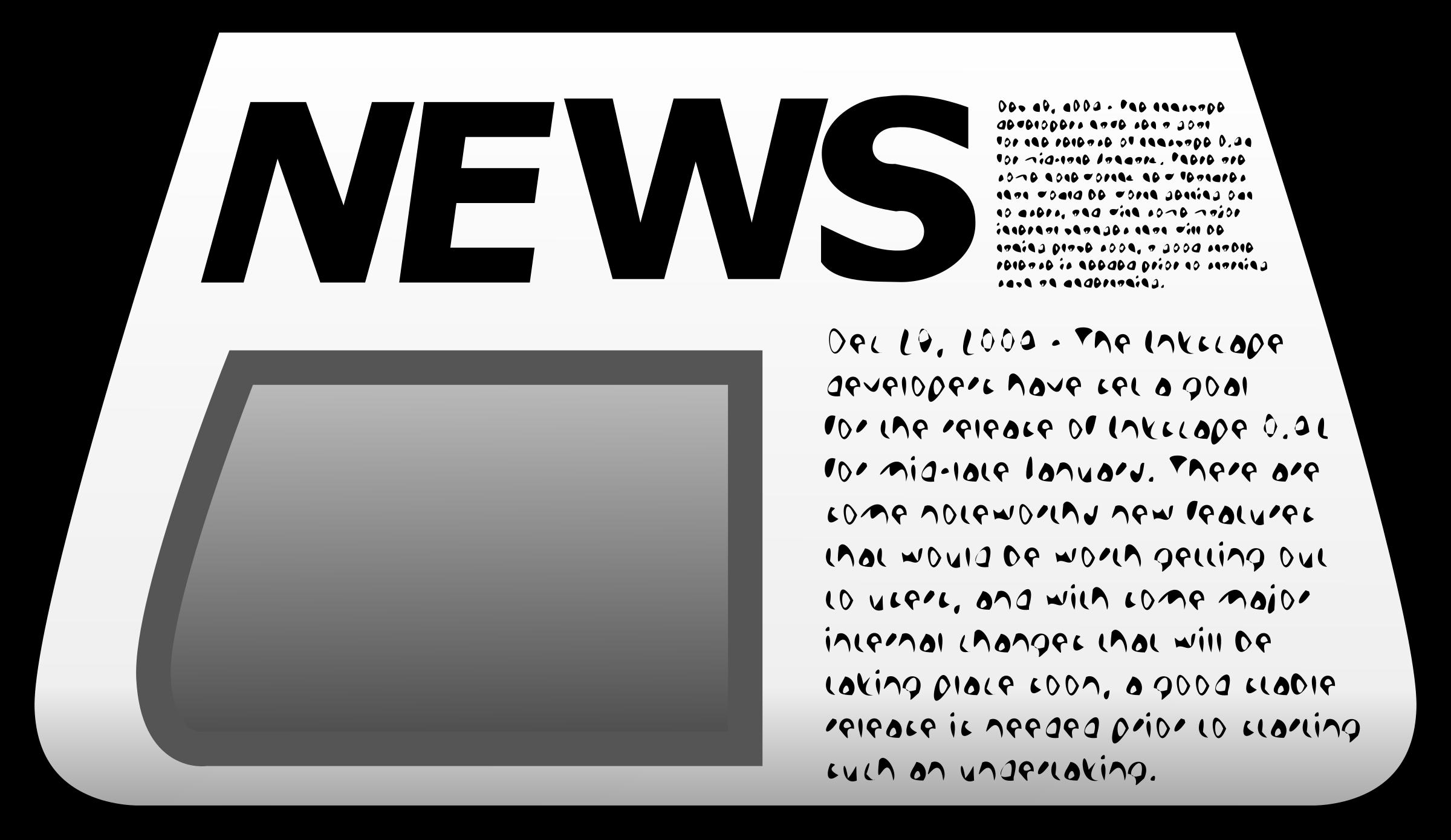 Newspaper icon big image. News clipart news update