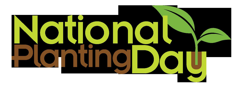 Volunteers celebrate national planting. Logo clipart plant