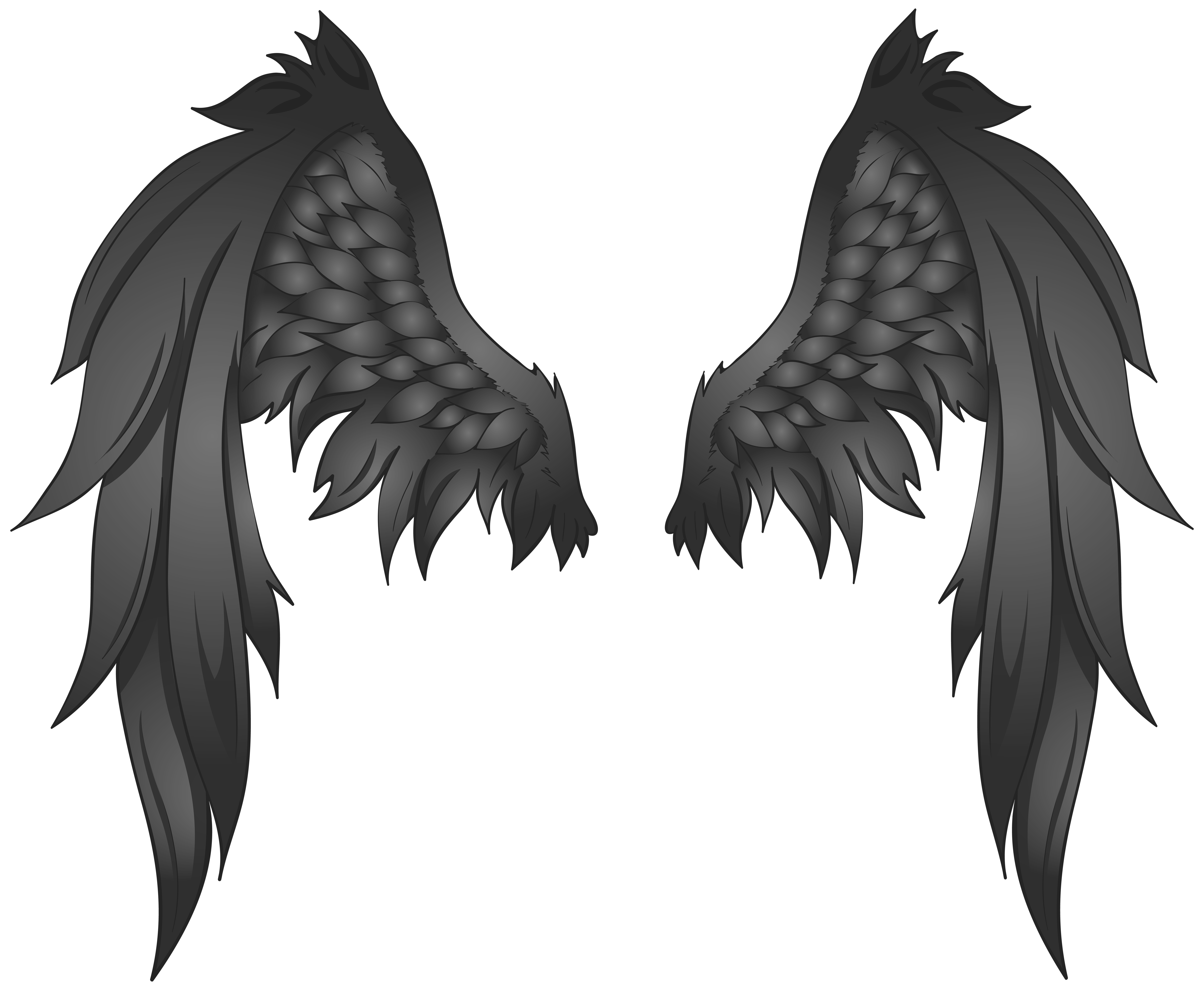 Black wings transparent png. Wing clipart supernatural
