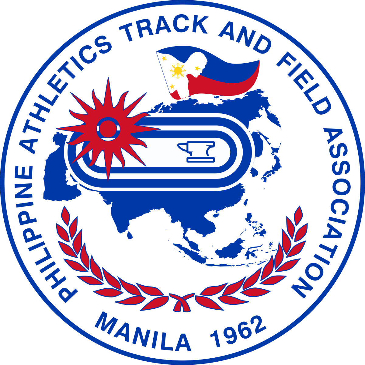 Logo clipart track and field. Philippine athletics association wikipedia