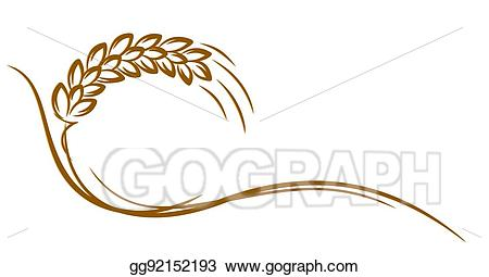 Wheat clipart logo. Eps vector of stock