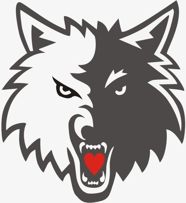 Png heart langtou . Wolf clipart logo