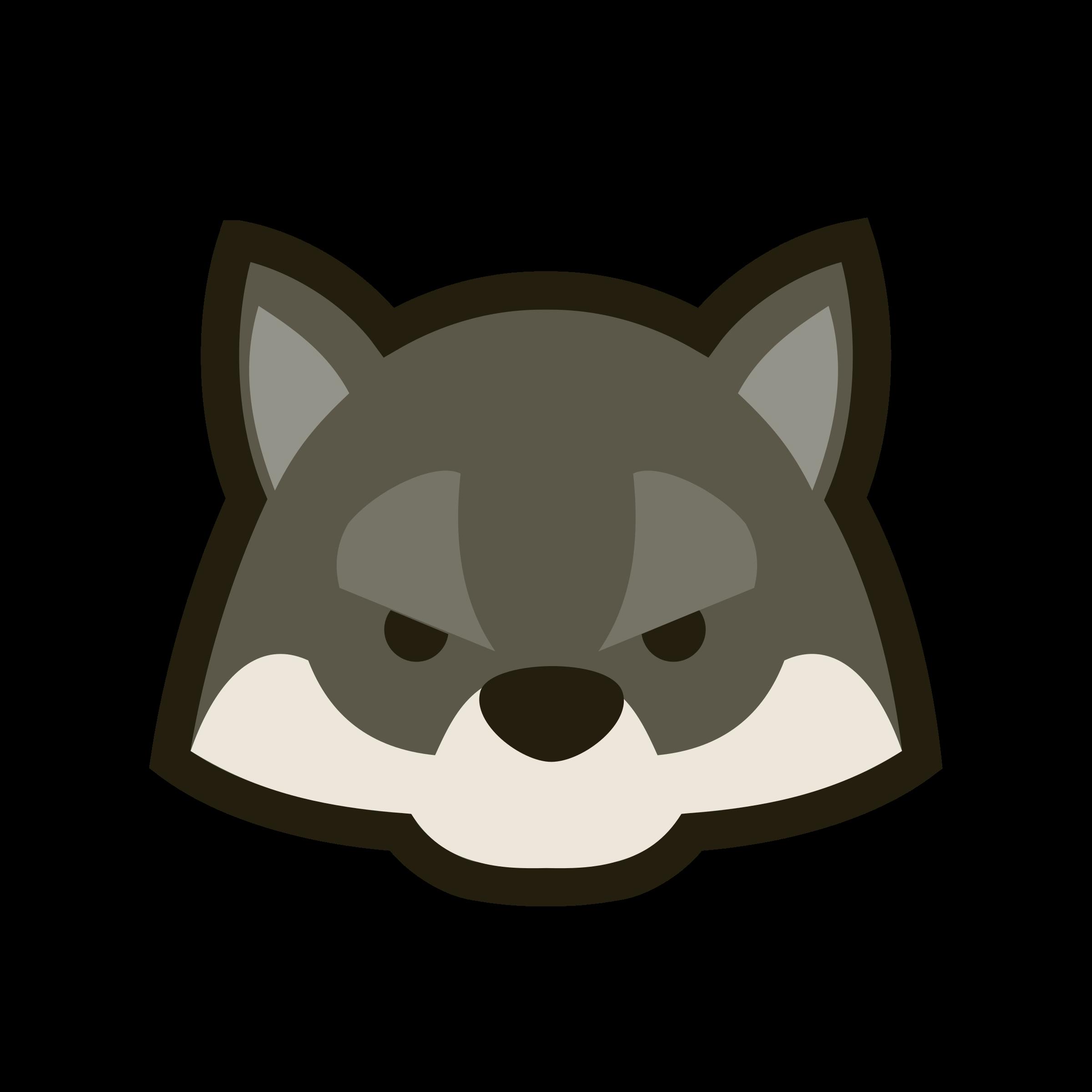 Woodland clipart wolf. Dou shou qi big