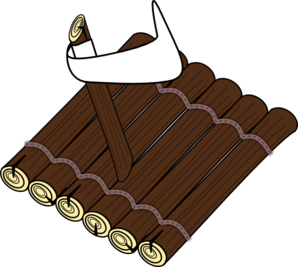 Log raft clip art. Logs clipart