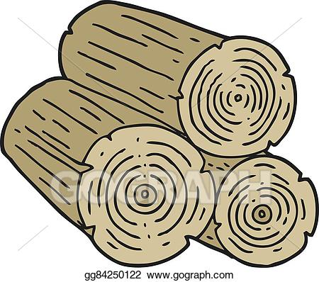 Logs clipart. Eps vector cartoon stock