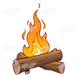 Fire . Logs clipart