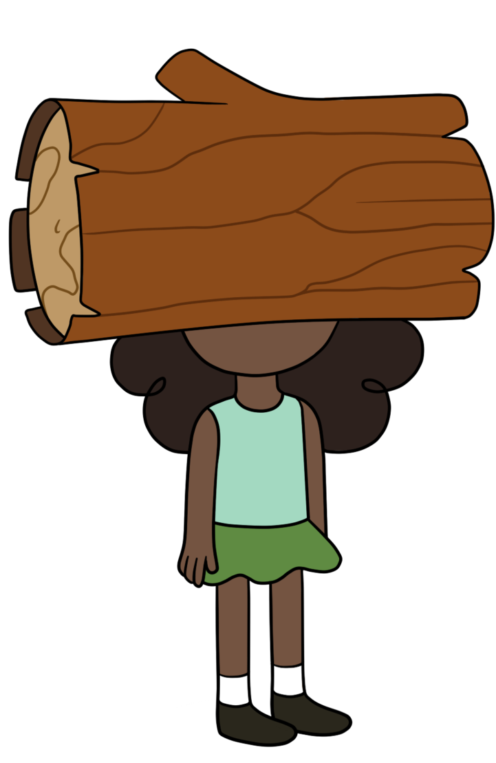 Log face by thecheeseburger. Logs clipart brown thing