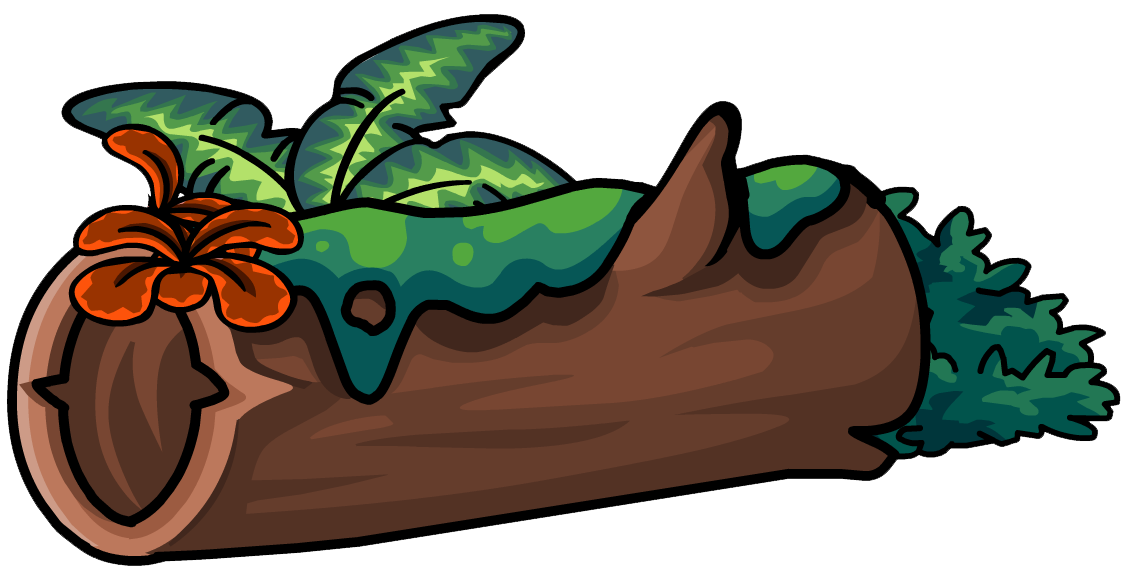 Logs clipart brown thing. Image mossy log furniture