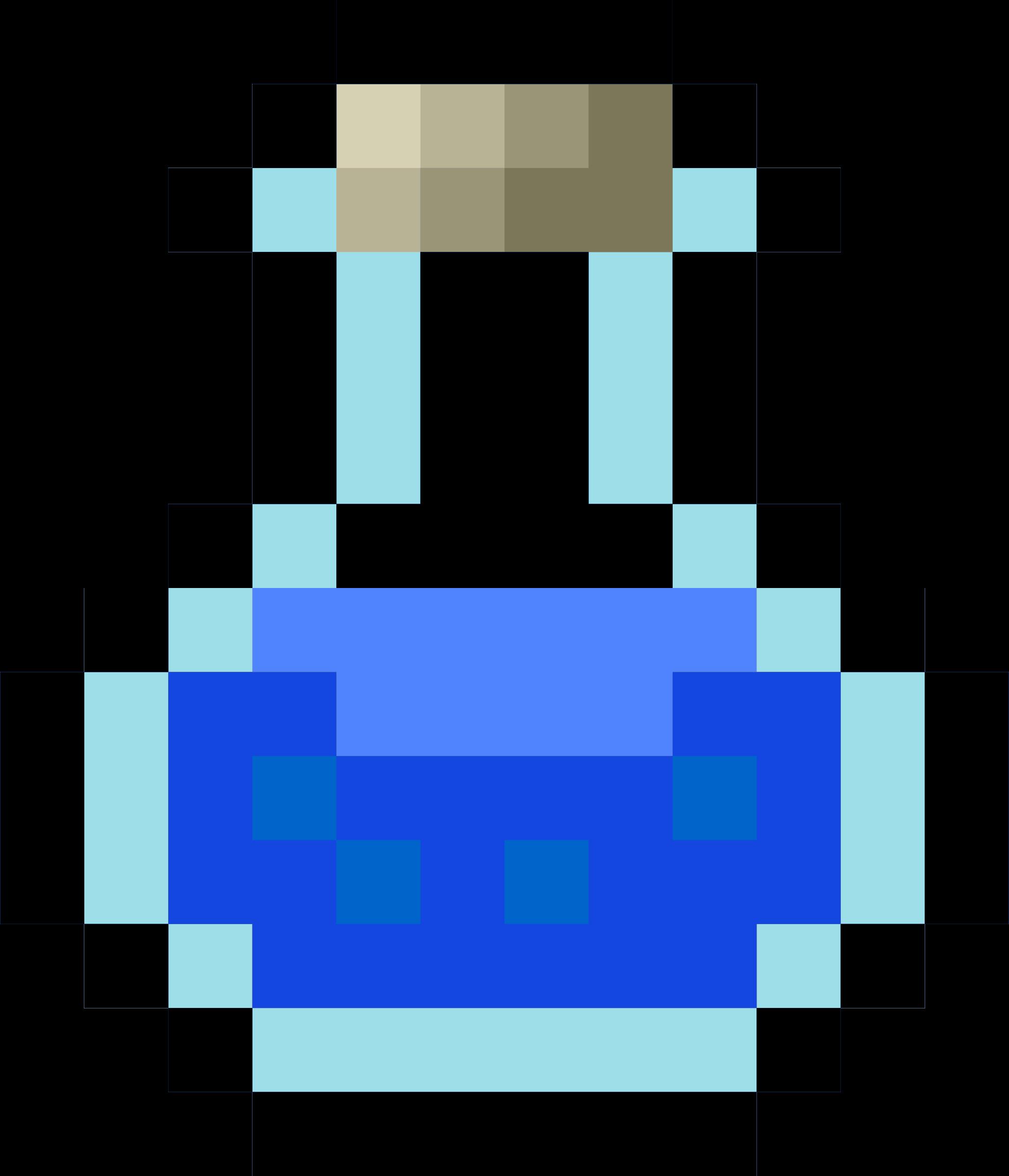 Logs clipart pixel. Potion blue big image