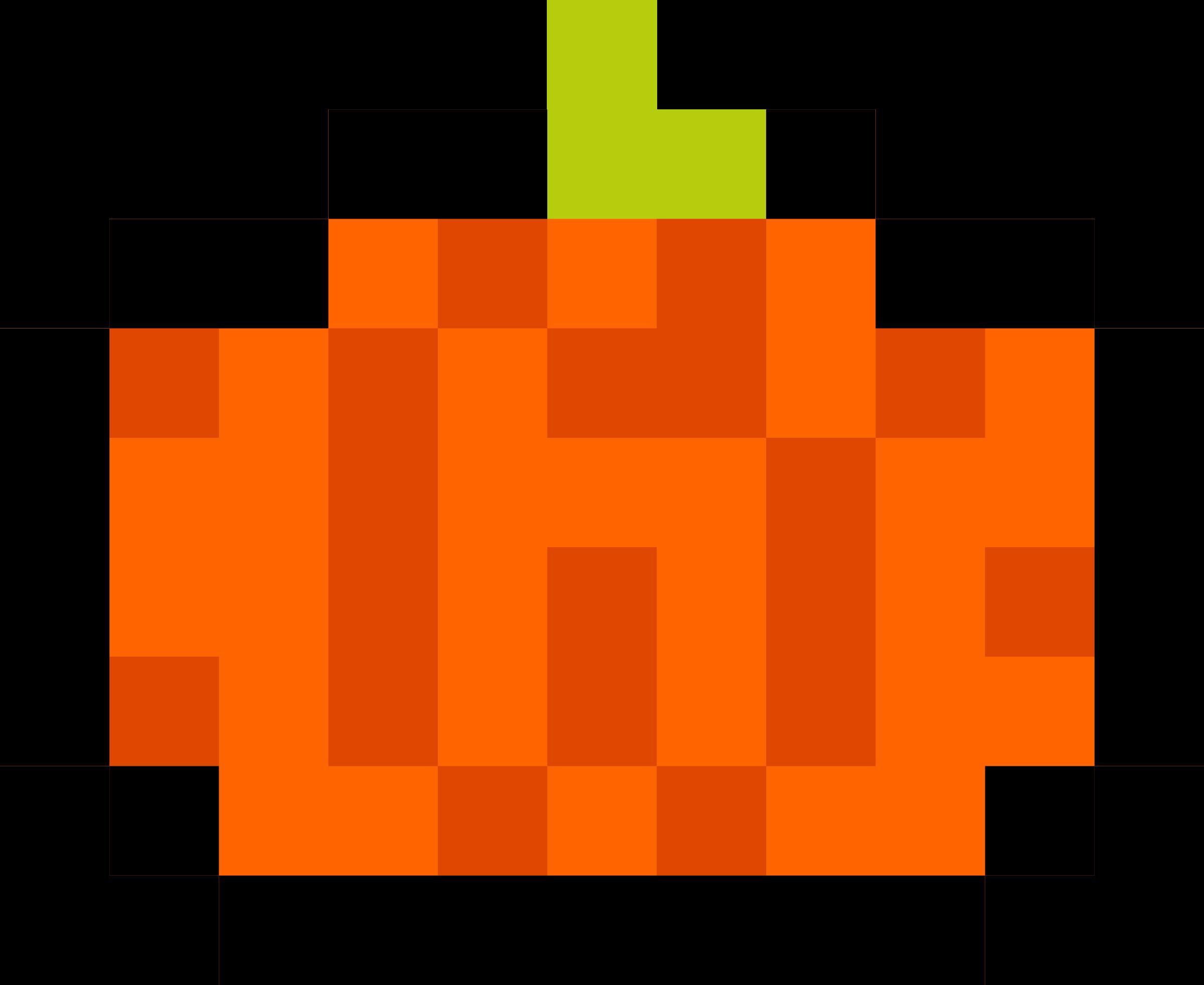 Logs clipart pixel. Pumpkin