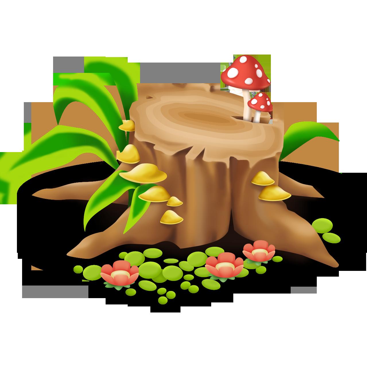 Image log png hay. Mushroom clipart mushroom tree