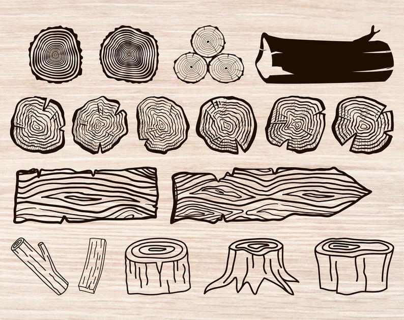 Wood log svg lumber. Logs clipart tree bark