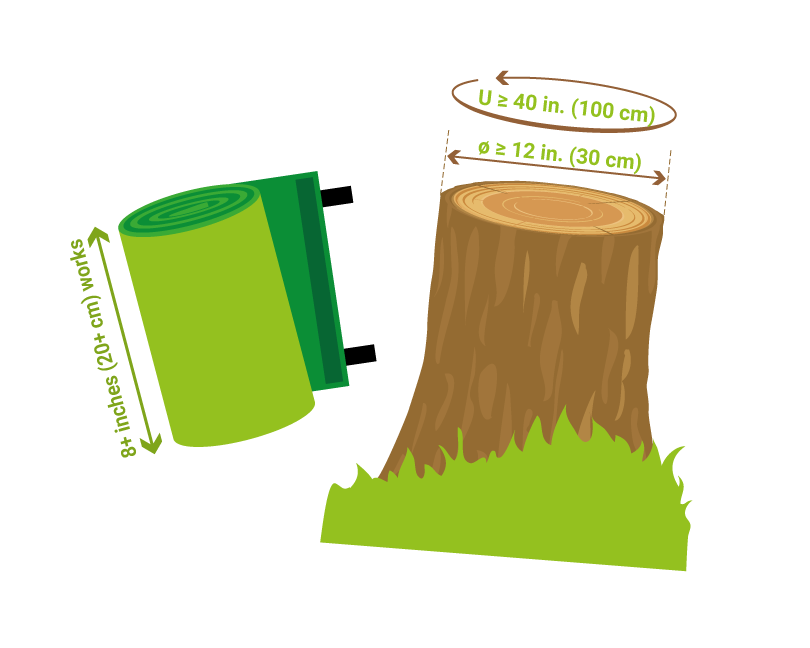 Protection slackline u s. Logs clipart tree bark