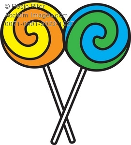 Lollipop clipart. Clip art illustration of