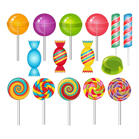 Lollipop clipart. Sweets candy jelly