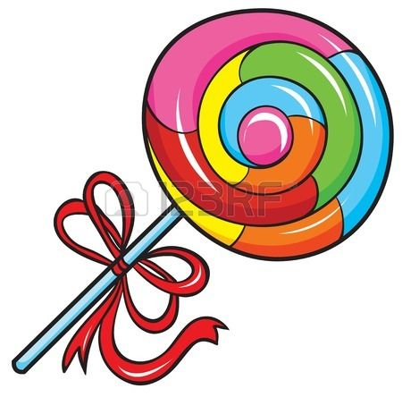 Swirly pencil and in. Lollipop clipart