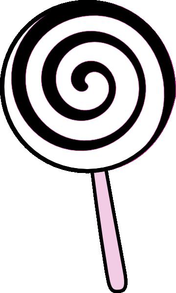 Lollipop clipart. Black and white