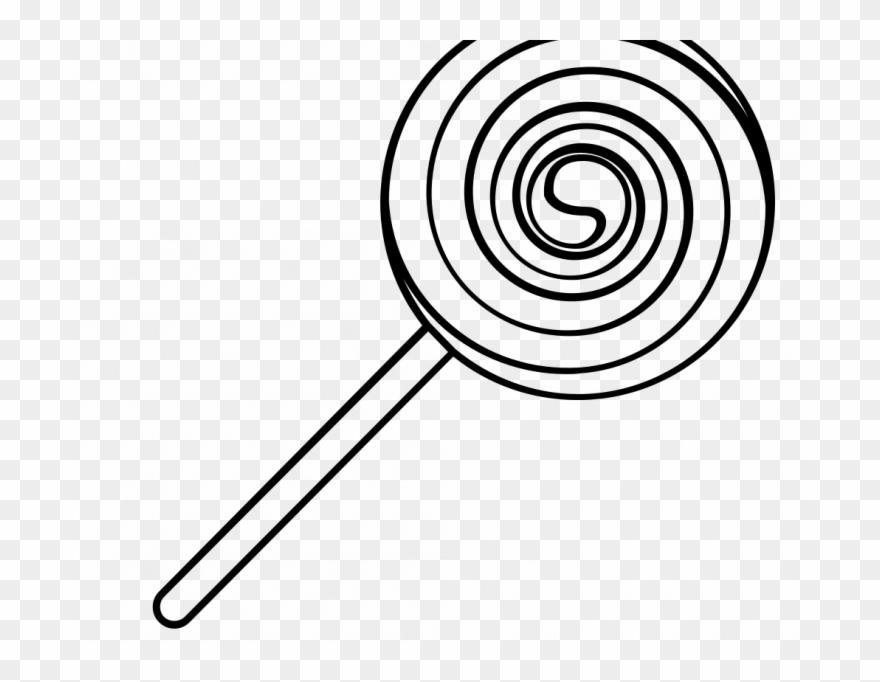 lollipop clipart black and white