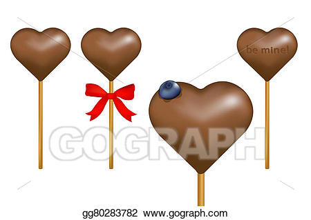 Lollipop clipart chocolate lollipop. Stock illustration drawing