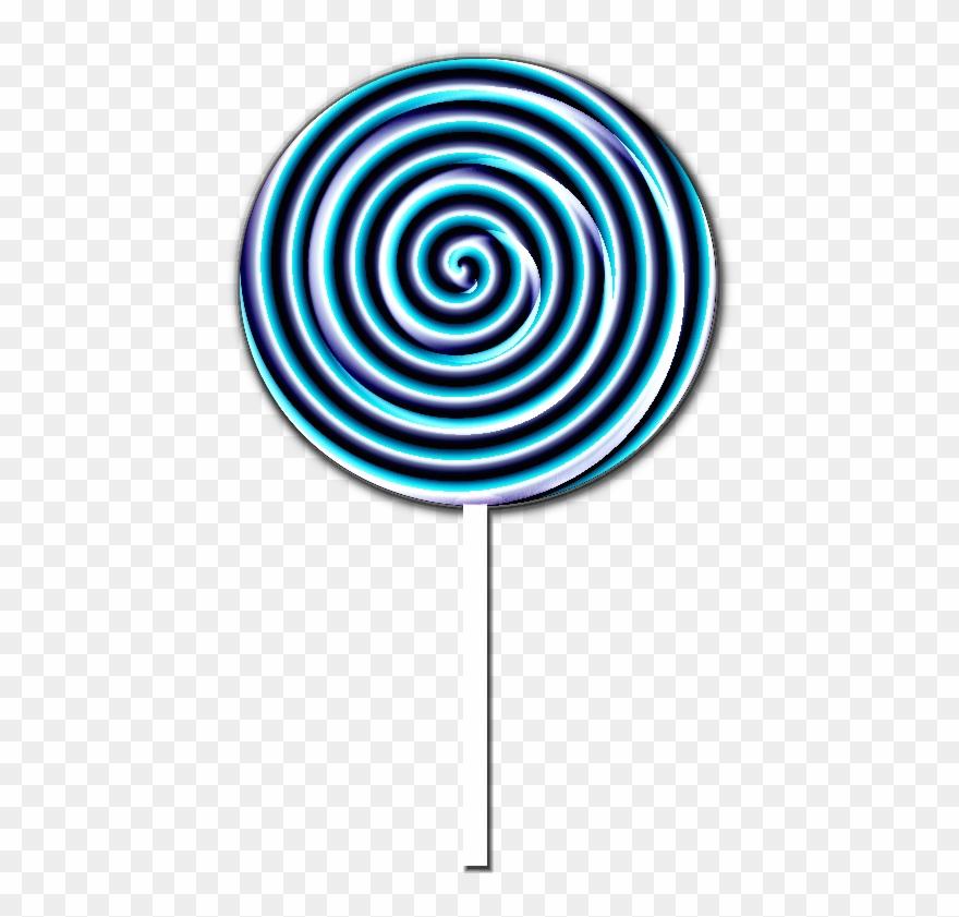 Lollipop clipart circle. Blue png download