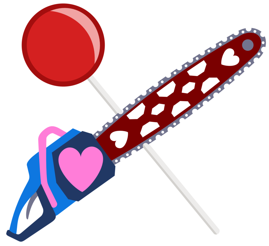 Chainsaw by the smiling. Lollipop clipart cutie mark