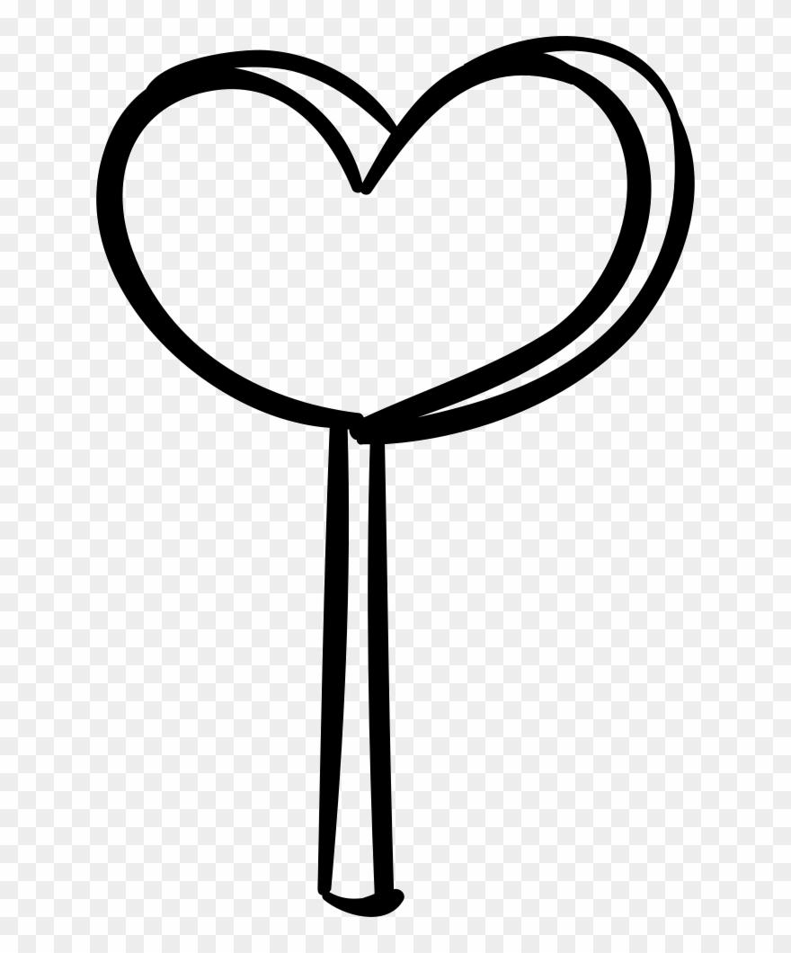 Lollipop clipart heart shaped lollipop. Comments black and
