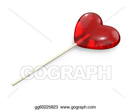 Clip art stock illustration. Lollipop clipart heart shaped lollipop
