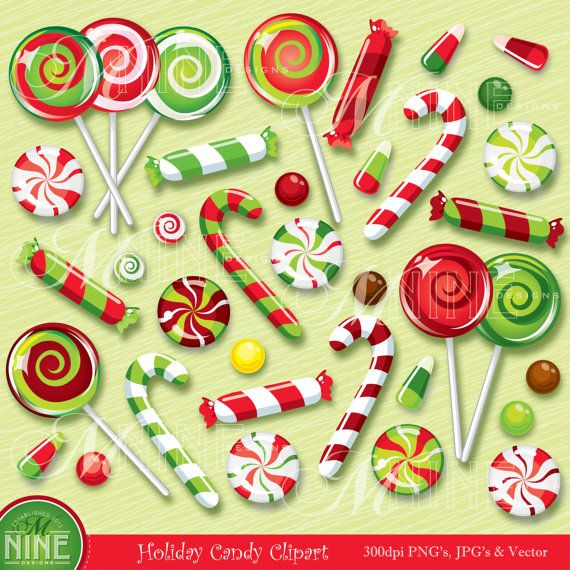 Clip art christmas illustrations. Lollipop clipart holiday candy