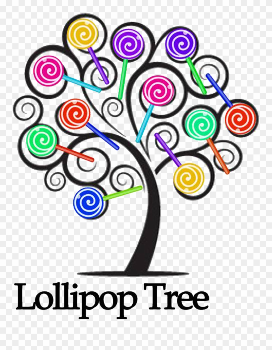 Lollipop clipart lollipop tree. Family simple drawing