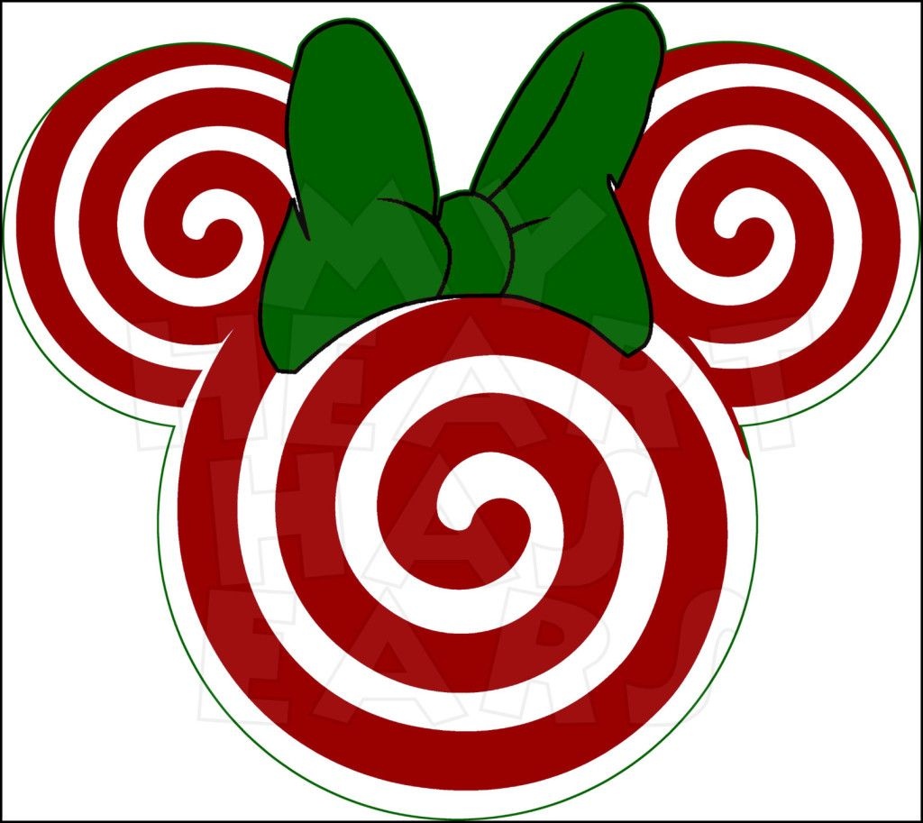 Lollipop clipart mickey mouse ear. Christmas candy cane minnie