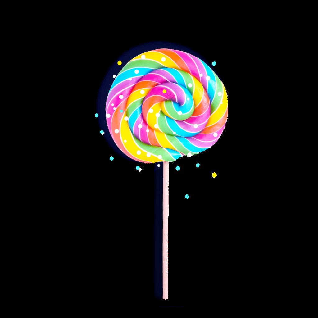 Lollipop clipart sugar candy. Rainbow sticker by picsartuna